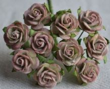 1.5cm LIGHT SHELL PINK Mulberry Paper Roses